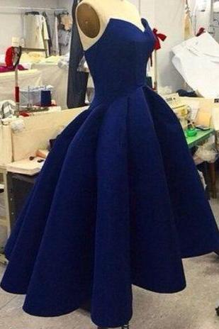 Sexy High Low Royal Blue Homecoming Dress