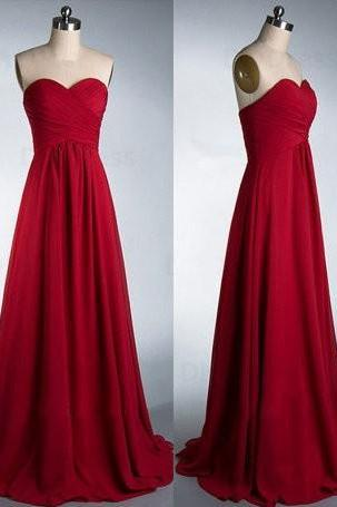 Cheap A-line Wine Red Bridesmaid Dress, Cheap Wedding Party Dress