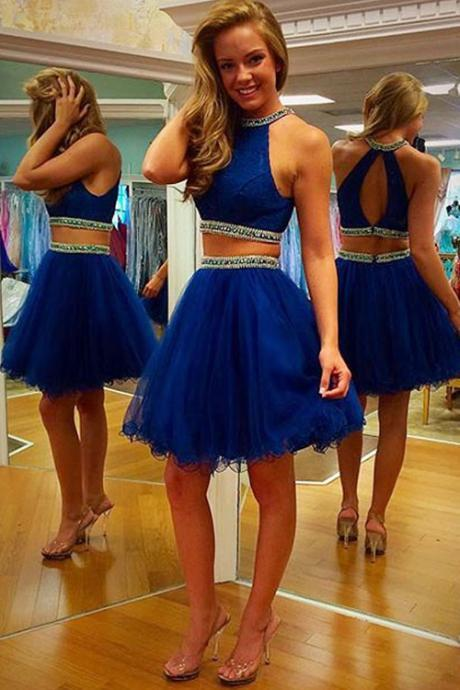 Royal Blue Homecoming Dresses,Lace Homecoming Dress,Knee Length Lace Homecoming Dresses,Royal Blue Graduation Dresses,Cheap Party Dresses,Royal Blue Dresses