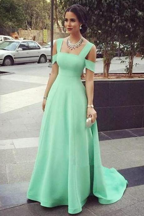 Elegant Straps Party Dress,Mint Green Prom Dress,Straps Mint Green Formal Party Dress,Graduation Dress 2016,Prom Gowns 2016,Party Dresses 2016