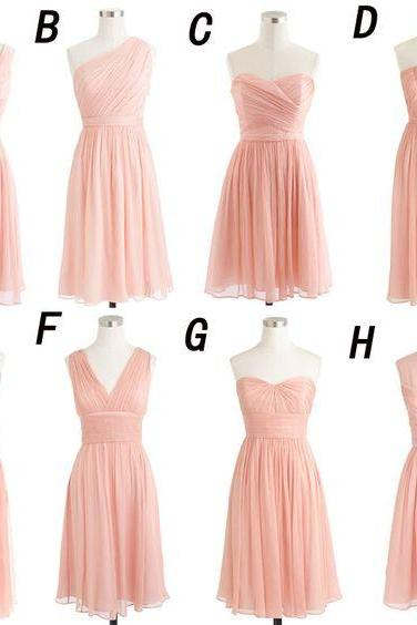 Cheap Bridesmaid Dress,Blush Bridesmaid Dresses,Short Bridesmaid Dresses,Custom Bridesmaid Dress,Discount Bridesmaid Dresses,Chiffon Bridesmaid Dresses